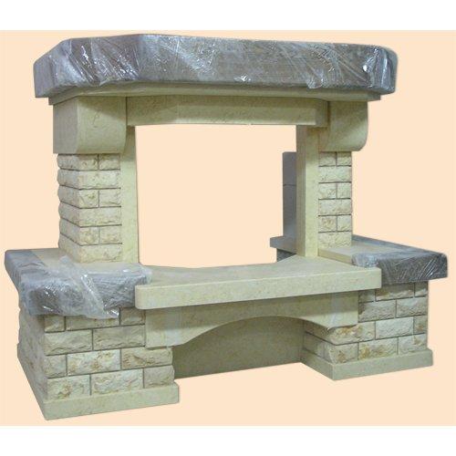 Фиеста фронтальный портал из колотого мрамора
