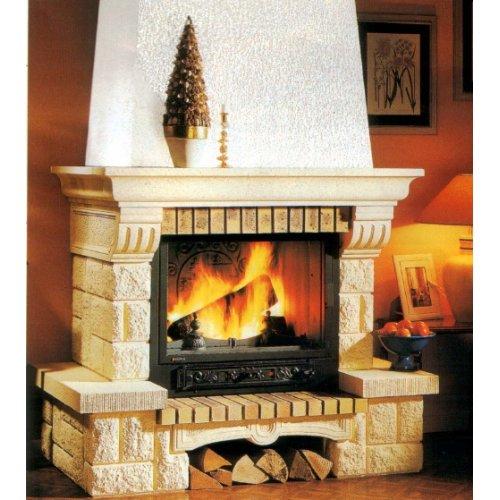 Tosca (Тоска) - Камин в деревенском стиле, нижняя дровница