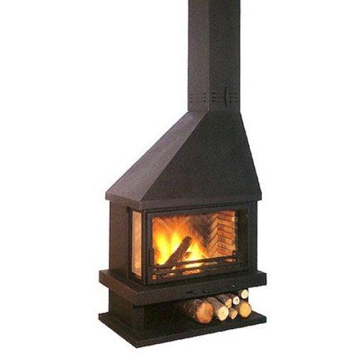 Gia - Гиа металлический камин черного цвета