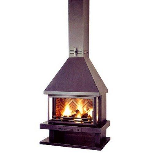 Irina - Ирина металлический камин с трехсторонним обзором огня