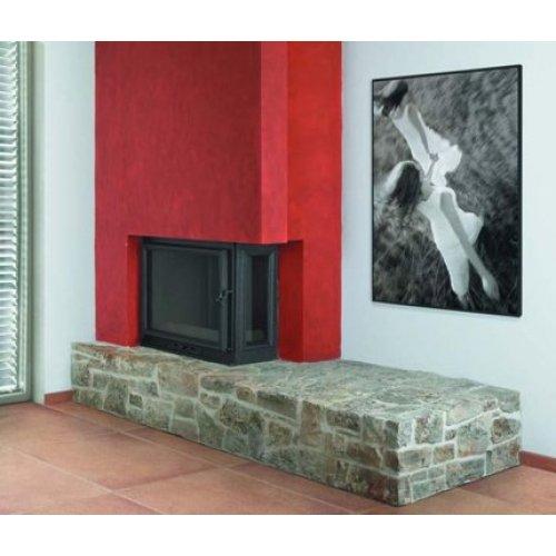 Ivars - Иварс дровяной пристенно-угловой камин из природного камня