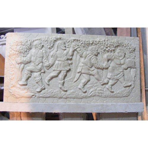 Декоративная накладка из белого мрамора