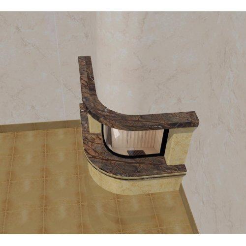 Эскиз-3 Пристенно-угловой камин с мраморной балкой