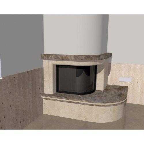Эскиз-1 Филороссо пристенно-угловой камин