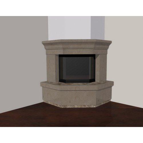 Эскиз-3 Мраморный каминный портал темных тонов