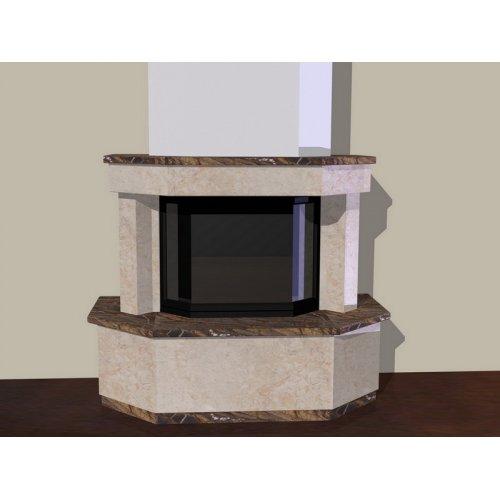 Эскиз-1 Призма фронтальный камин с призматической топкой