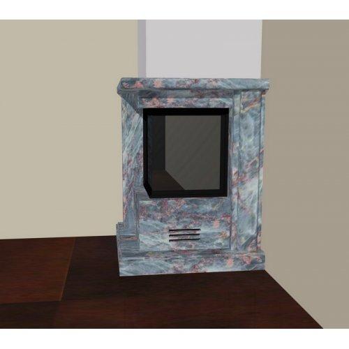 Эскиз-2 Мраморный камин Саломе из полированного мрамора