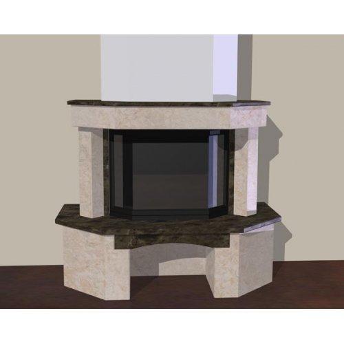 Призматический портал с нишей для дров