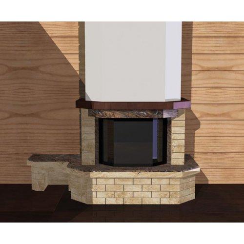 Декоративный портал с боковой скамейкой