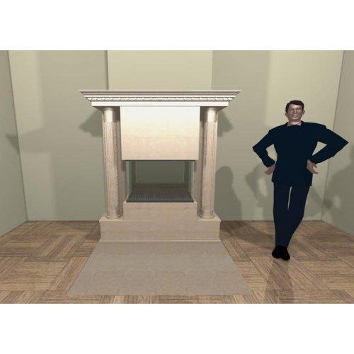 Мраморный портал с декоративными колоннами