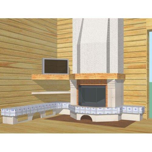 Комплект со скамейкой из изразцов
