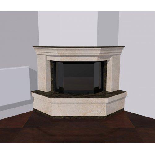 Угловой портал призматической формы