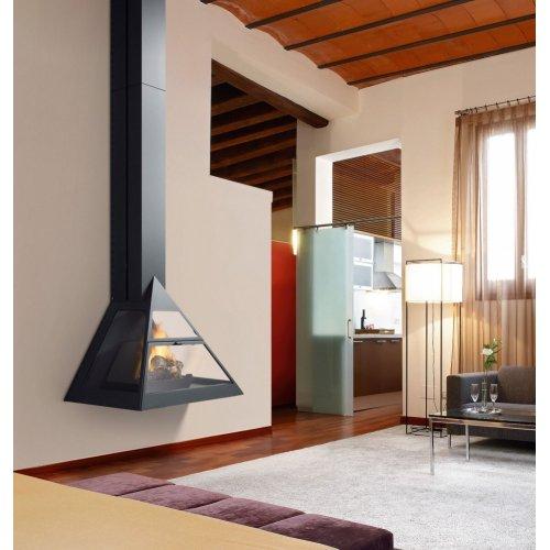ADMETO - Фронтальный камин с верхним подключением