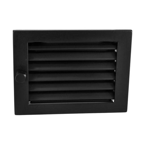Решётка вентиляционная с жалюзи, цвет черный