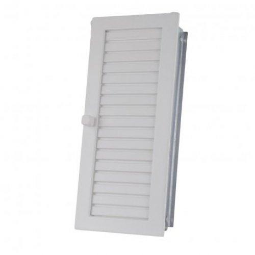 Решётка вентиляционная вертикальная с жалюзи, цвет белый