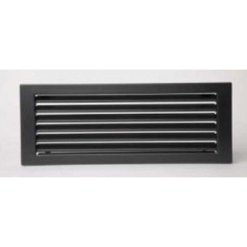 Решетка вентиляционная без жалюзи Standart, цвет черный