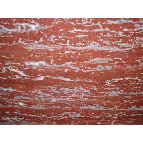 Мрамор красного цвета с прожилками Россо Франция