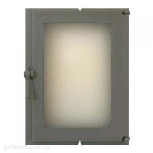 Чугунная герметичная дверца со стеклом арт.505