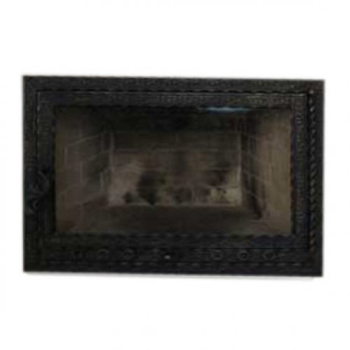Дверца с огнепрочным стеклом для камина