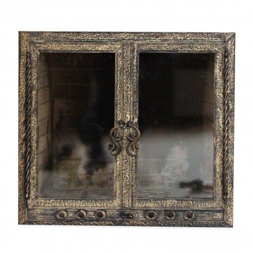 Каминная дверца с художественной ковкой