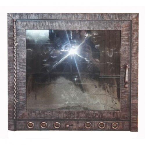 Каминная дверка с жаропрочным стеклом