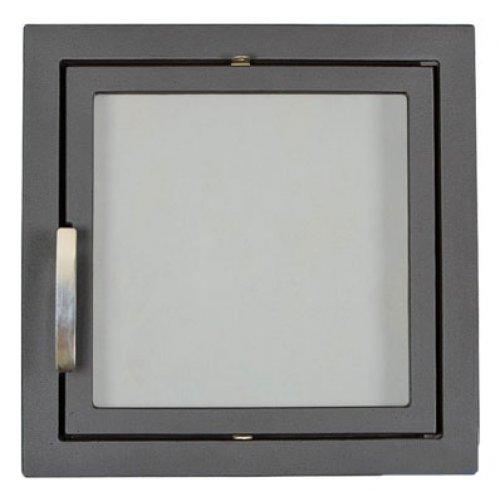 Дверь для камина с жаростойким стеклом арт.501