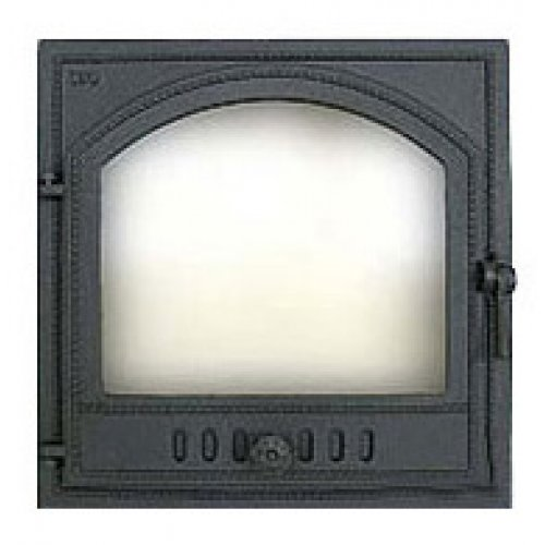 Печная дверь из стекла, левая арт.406