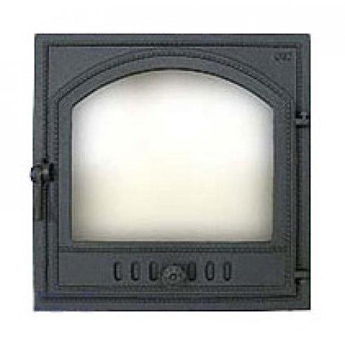 Одностворчатая стеклянная дверь для камина арт.405