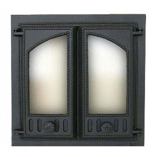 Две створки с жаропрочным стеклом арт. 403