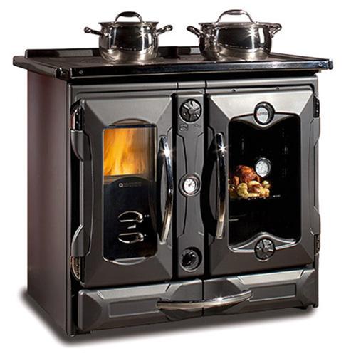 TermoSuprema Compact D.S.A - стильная плита с водяным контуром, черная