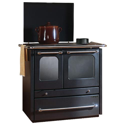 Sovrana Evo NE - дровяная печь из чугуна с большой духовкой, черная