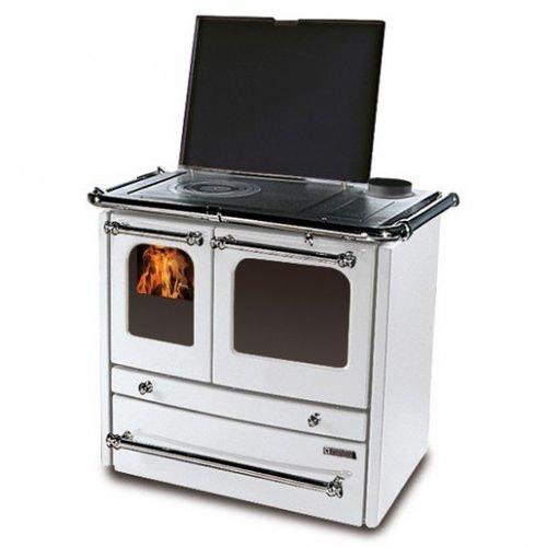 Sovrana Evo BI - отопительно-варочная плита из чугуна, белая