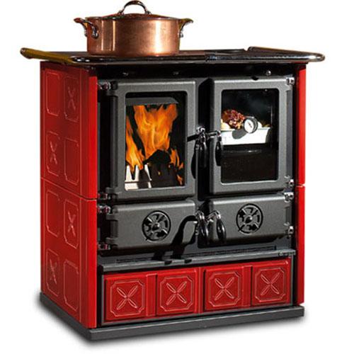 Rosetta Maiolica BO - кухонная плита с плитой и духовкой, бордовая