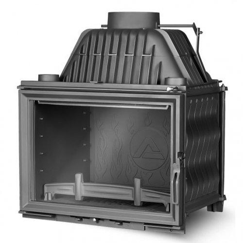 Kaw-Met W17 16 кВт - чугунная топка с прямым стеклом на дровах