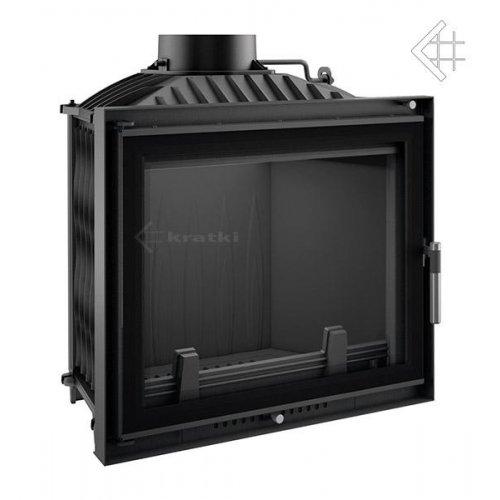 Felix/DECO - топочная камера с декоративной рамкой черного цвета
