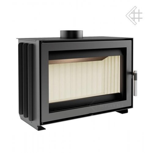 Jas - каминная вставка с горизонтальным смотровым окном