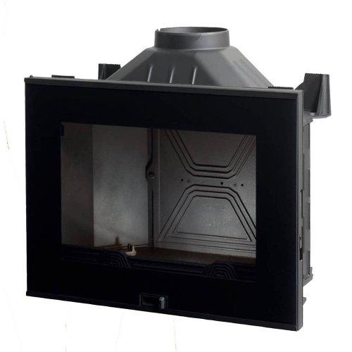 A6 - Топка с прямой дверцей с декоративной черной рамкой