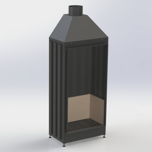 VS-A (800x1700x600) - Стальная топка с вертикальным стеклом
