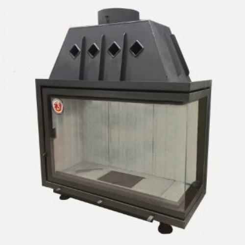 Альфа 1000R (арт. TA1000R, TA1000RB) - Стальная топка с угловой дверью, правое стекло