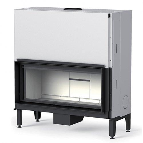 Plasma 115 - дровяная топка с прямой стеклянной дверцей