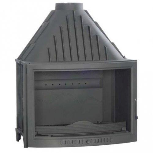 810 curvo - Каминная вставка с полукруглым огнепрочным стеклом
