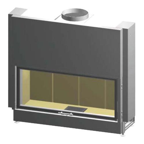 Linear 4S Varia B120H - Мощная топочная конструкция с прямым стеклом