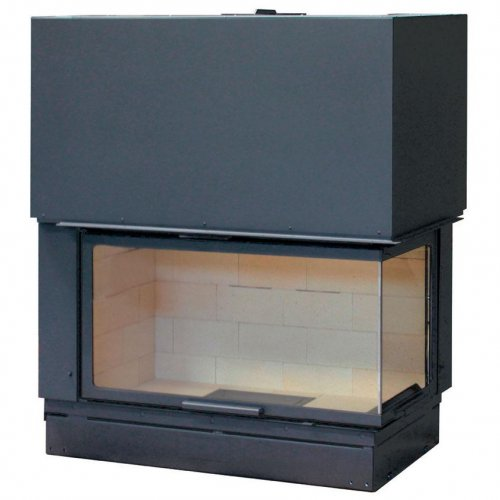 H 1200 right lateral glass RT - Пристенно-угловая модель топки для камина
