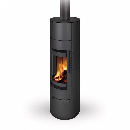 Romotop LUGO N AKUM металл - дровяная камин-печь в черном цвете