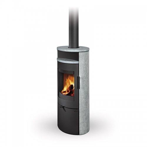 Romotop LUGO N камень - отопительная печь-камин для загородного дома