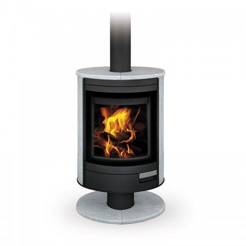 Romotop STROMBOLI N камень - поворотная печь для отопления загородного дома